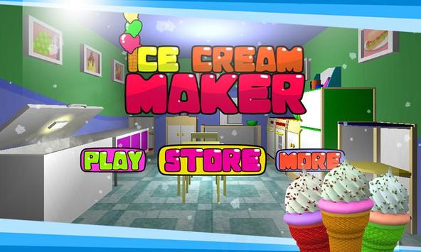 Ice Cream Maker– 3D Cooking poster