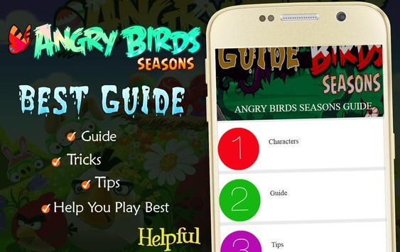 Seasons Guide to Angry Birds poster