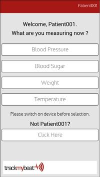 TrackMyBeat Health Application screenshot 2