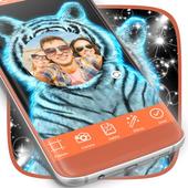 Neon Tiger Photo Frames icon