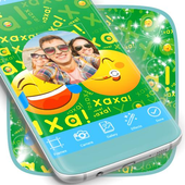 Kid Photo Frames with Stickers icon