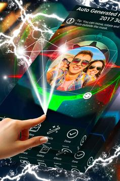 Neon Photo Frame Design poster