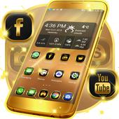 Neon Gold Theme For GO icon