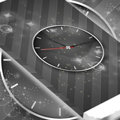 Grey Shades Clock Wallpaper icon