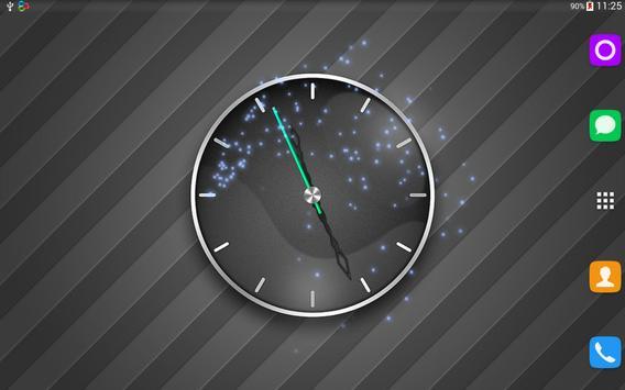 Grey Shades Clock Wallpaper apk screenshot
