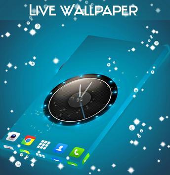 Live Wallpaper Clock for HTC screenshot 1