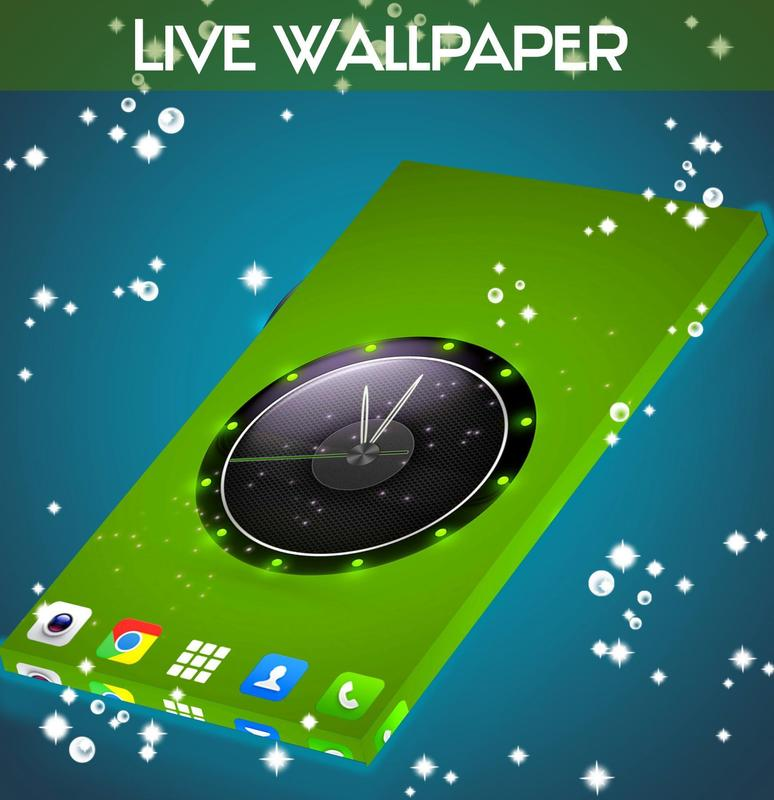 Live Wallpaper Clock For HTC For Android