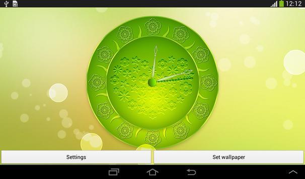 Spring Flowers Clock screenshot 16