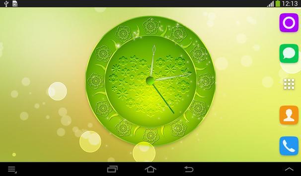 Spring Flowers Clock screenshot 12