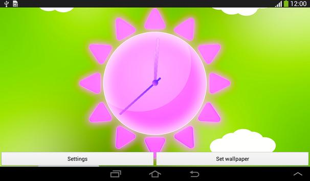 Sunny Weather Clock LWP apk screenshot