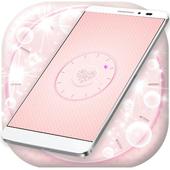 Pink Clock icon