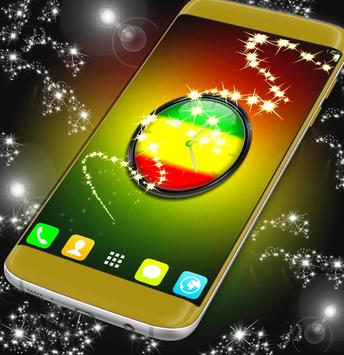 Rasta Clock Live Wallpaper screenshot 3
