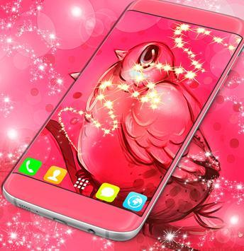 Cute Pink Bird Wallpaper apk screenshot