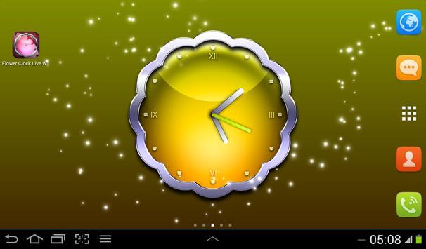 Flower Clock Live Wallpaper apk screenshot