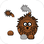 Cartoon animals baby puzzle icon