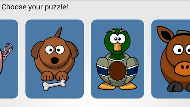 Cartoon animals baby puzzle apk screenshot