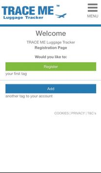 Trace Me Luggage Tracker apk screenshot