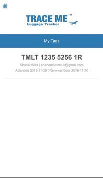 Trace Me Luggage Tracker apk screenshot