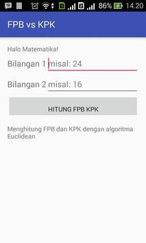FPB vs KPK Kalkulator poster