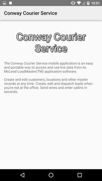 Conway Courier Service screenshot 1