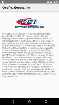 Certified Express, Inc screenshot 1