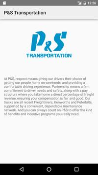 P&S Transportation apk screenshot