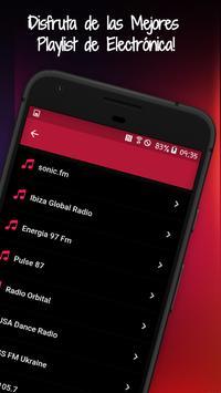 Canciones Electrónicas: Radios Electronicas Fm screenshot 1