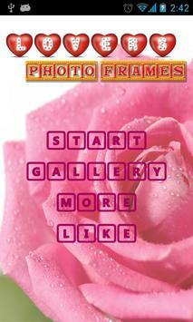 Lover's Heart Photo Frames poster