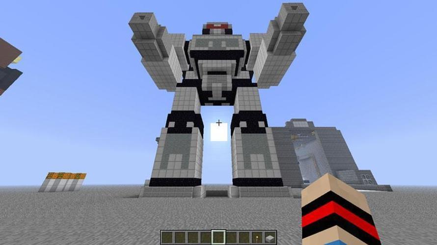 робот в майнкрафте постройка букете