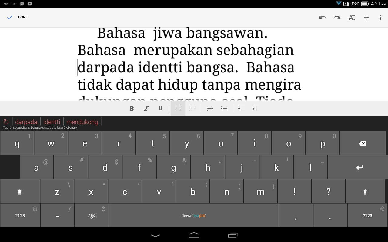 Dewan Eja Pro Malay Keyboard For Android Apk Download