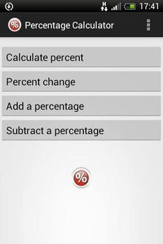 Percentage Calculator app poster