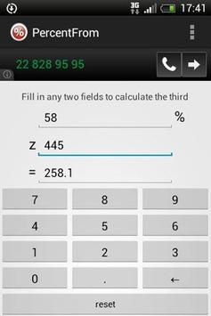 Percentage Calculator app screenshot 1