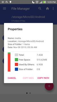 Blue File Manager apk screenshot