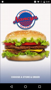 Nancy's Burgers and Fries poster