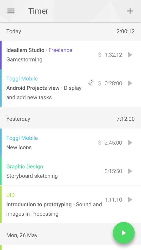toggl time tracker timesheet for android apk download