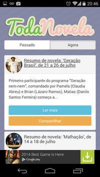 TodaNovela - Tudo sobre Novela apk screenshot