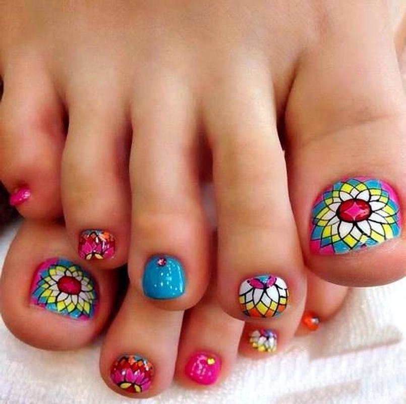 Toe Nail Art Designs With Lines Splendid Wedding Company