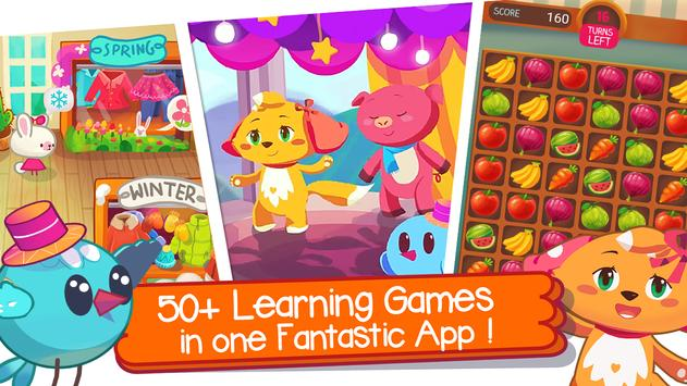 Super School: Educational Kids Games & Rhymes poster