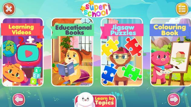Super School: Educational Kids Games & Rhymes apk screenshot