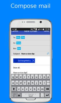 email, inbox for Exchange Mail apk screenshot