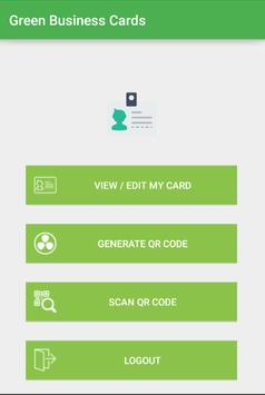 Green Business Cards poster