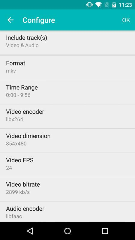 Android 用の iConv - Video Con...