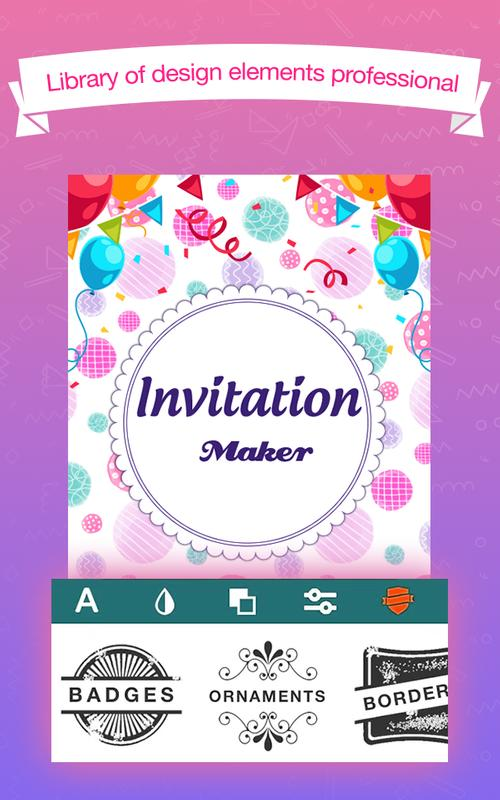 Invitation maker apk download free entertainment app for android invitation maker poster invitation maker apk screenshot invitation stopboris Choice Image