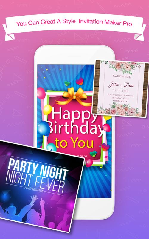 Invitation maker apk download free entertainment app for android invitation maker poster invitation maker apk screenshot stopboris Choice Image