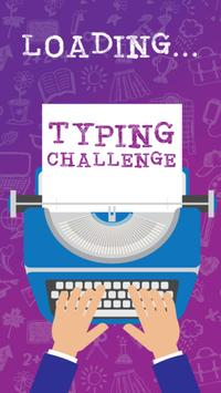 Typing text test your speed poster