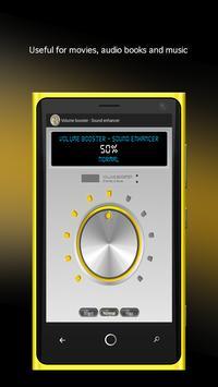 Volume booster -Sound enhancer poster