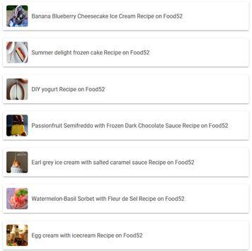 Banana Blueberry Cheesecake Ice Cream Recipe apk screenshot