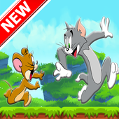 Tom run and Jerry jump icon