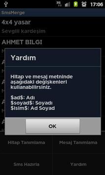 SmsMerge apk screenshot