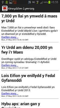Newyddion Cymraeg poster